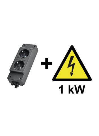 1 kW Power Supply, including socket