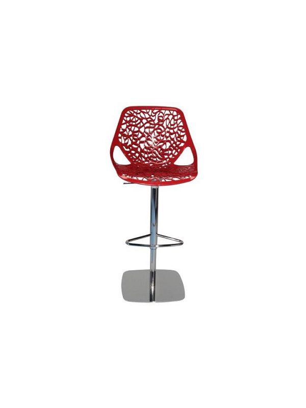 531RD - Barstool red, in height adjustable, swivel
