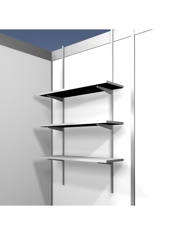 Hanging shelf rack with 3 shelves