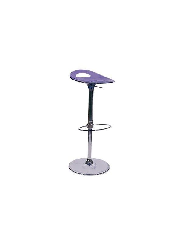 530BL - Barstool transparent blue, in height adjustable