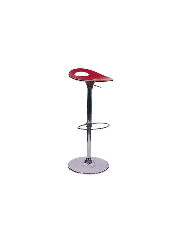 530RD - Barstool transparent red, adjustable height