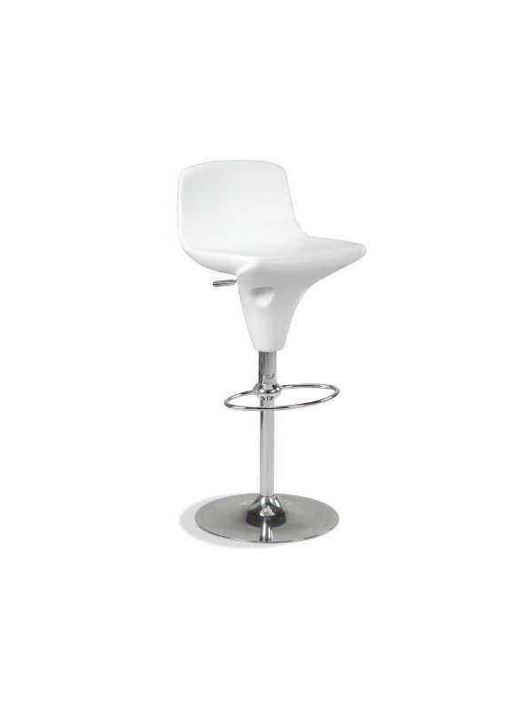 529W - Barstool white, in height adjustable