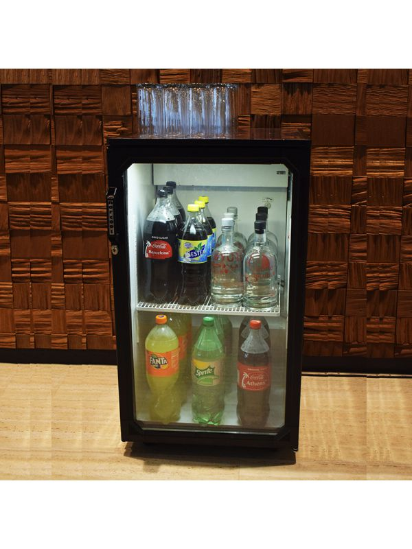 Fridge with soft drinks