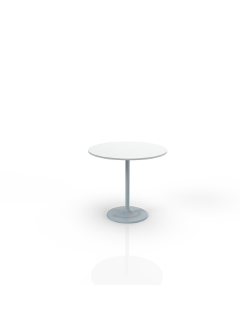 603W - Table with white top O 80cm