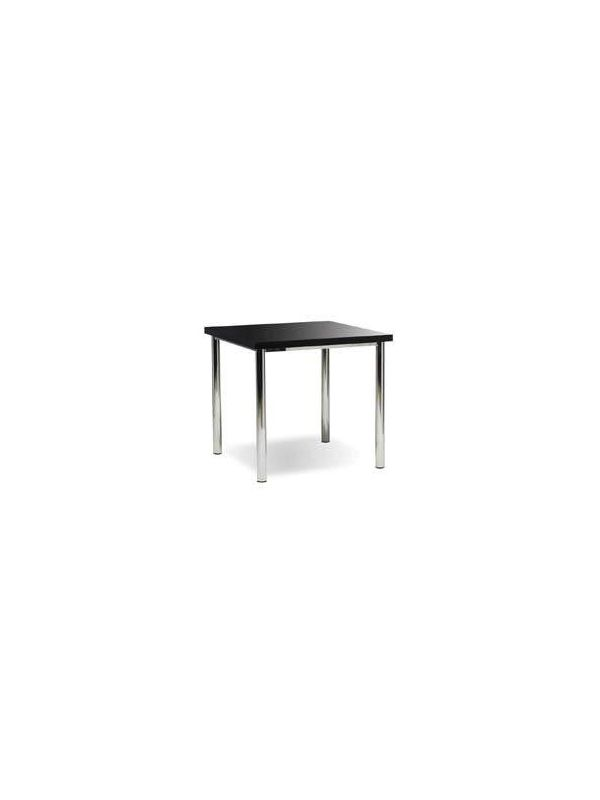 640Z - Table with black top 80x80cm