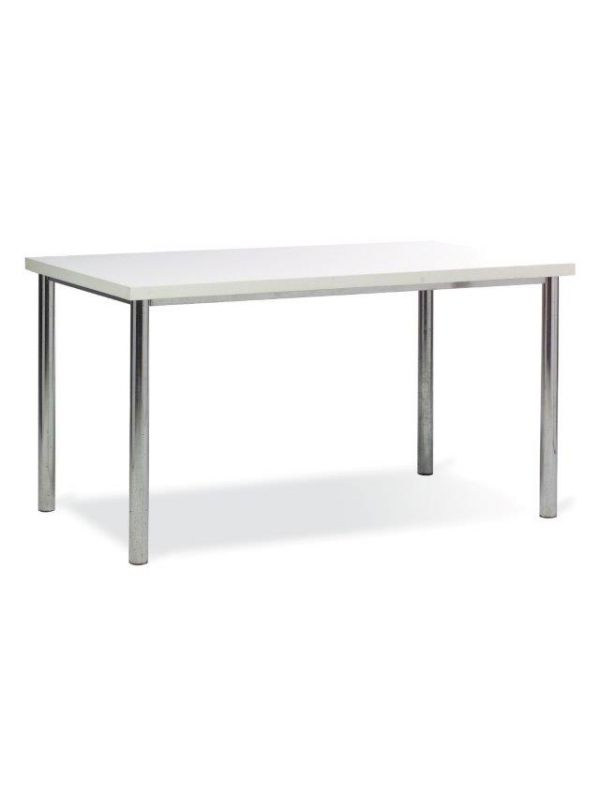 641W - Table with white top 135x80cm