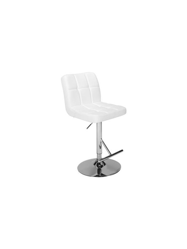 536W - Bar stool white, adjustable height