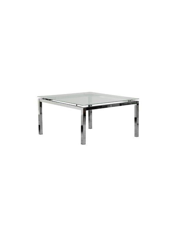 709GL - Coffee table with glass top 80x80cm