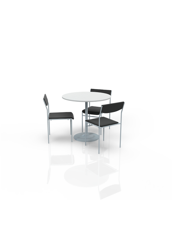 FB-BL-P4 - Furniture Package Low White/Black