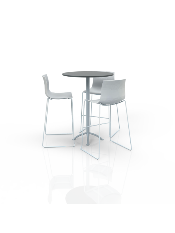 FB-MH-P28 - Furniture Package High White/Grey