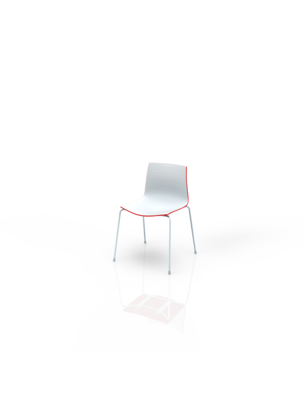 111WRD - Chair white-red