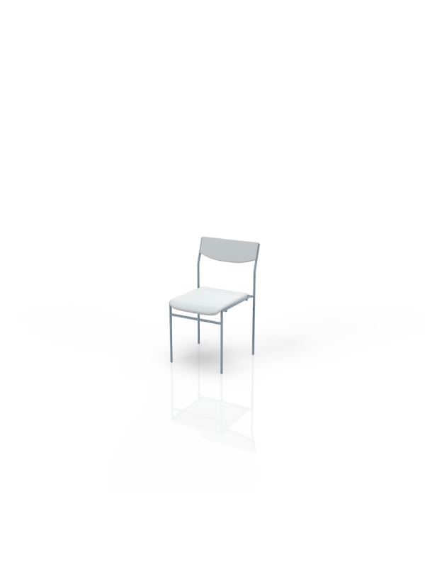 118W - Chair white, leatherlook