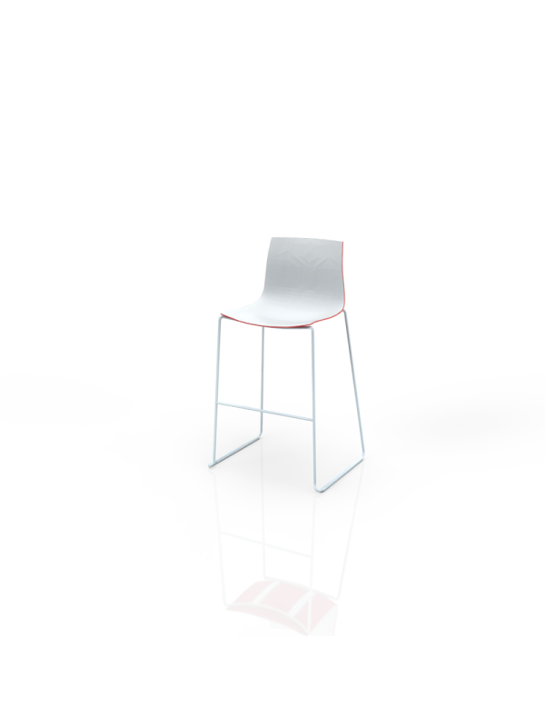 511WRD - Barstool white-red
