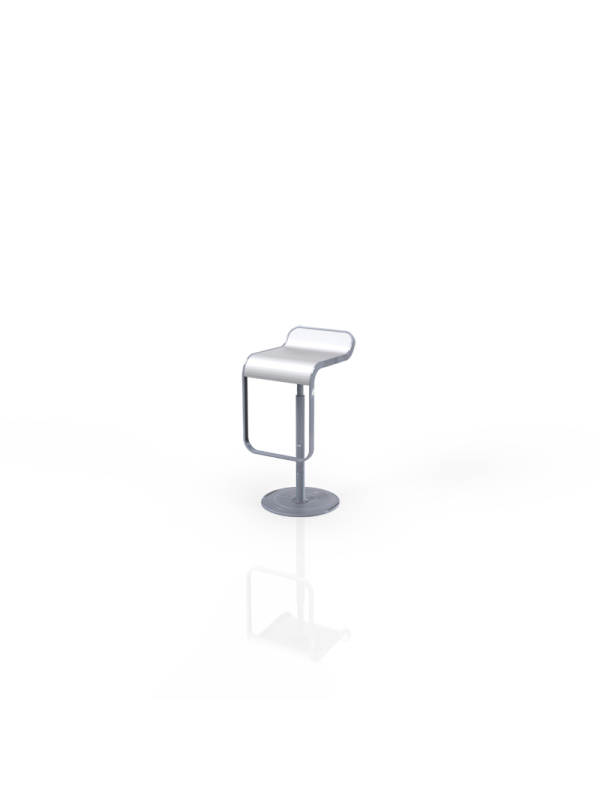 528W - Barstool white, in height adjustable, swivel
