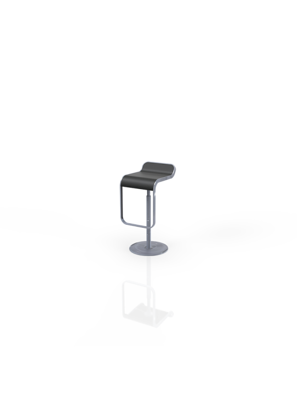 528Z - Barstool black, in height adjustable, swivel