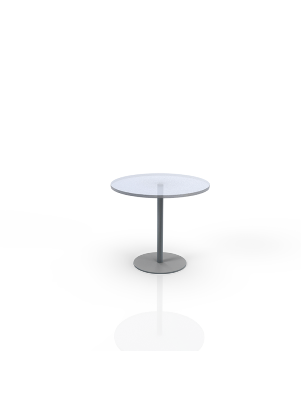 604GL - Table with glass top O 70cm