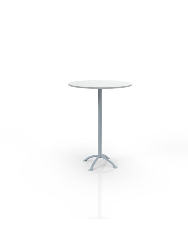 637W - Bar table with white top O 80cm