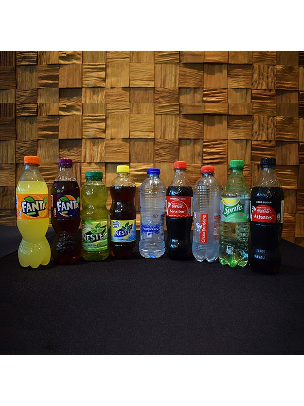 Assortment of cold softdrinks